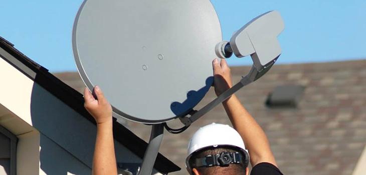 установка спутниковой антенны вручную